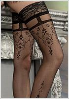 Ballerina Calze autoreggenti Exclusive Design 212 - Nero (L/XL)