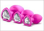 Blush Luxe Bling Plugs Set - Rosa (3 Analplugs)