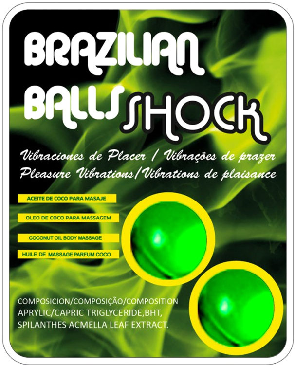 Boules lubrifiantes stimulantes & excitantes Brazilian Balls Shock