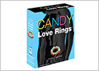 Candy Love Rings - Anello per pene con caramelle - 3 p.zi