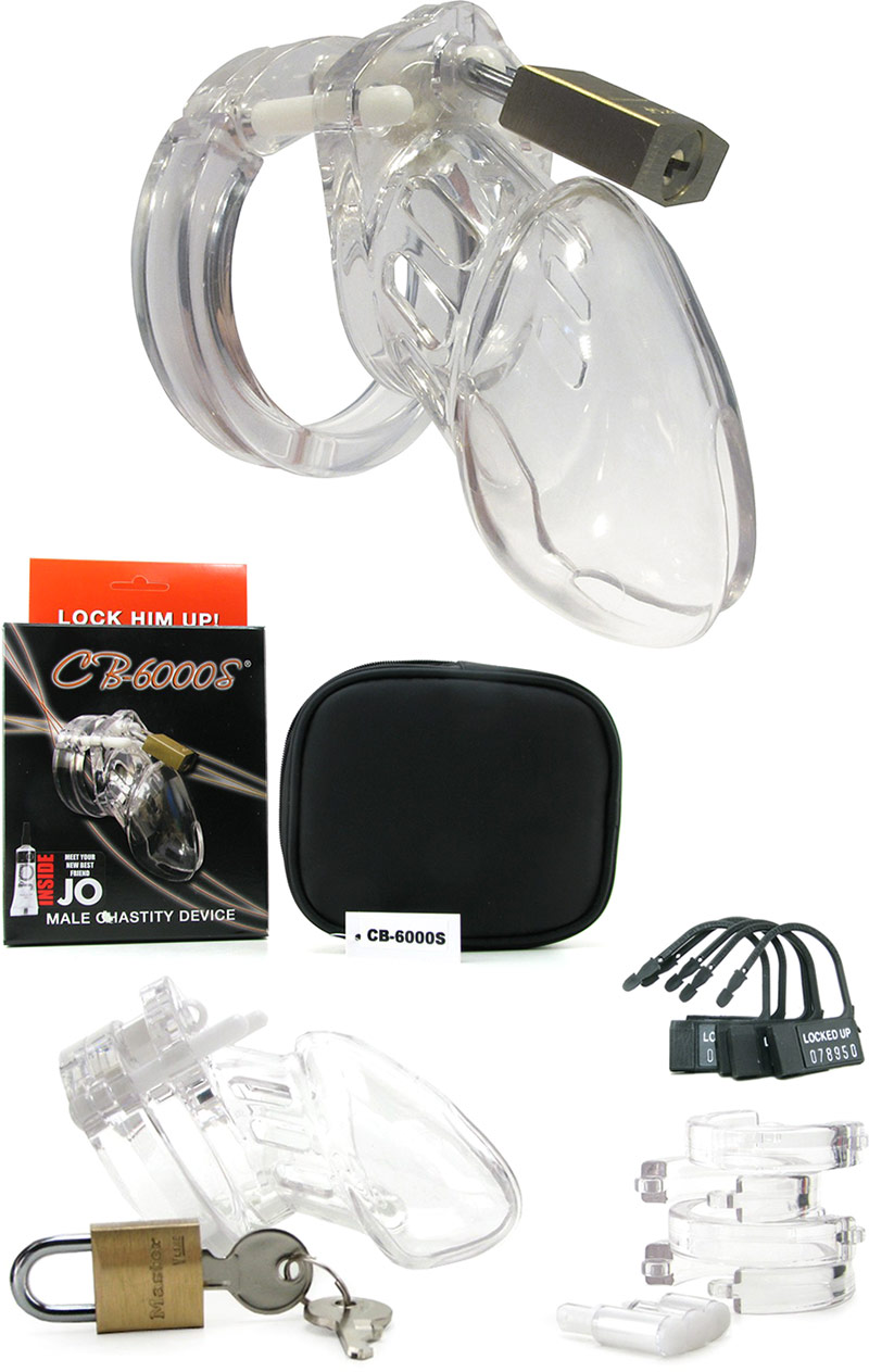 CB-X CB-6000 S Clear Polycarbonate Chastity Cage