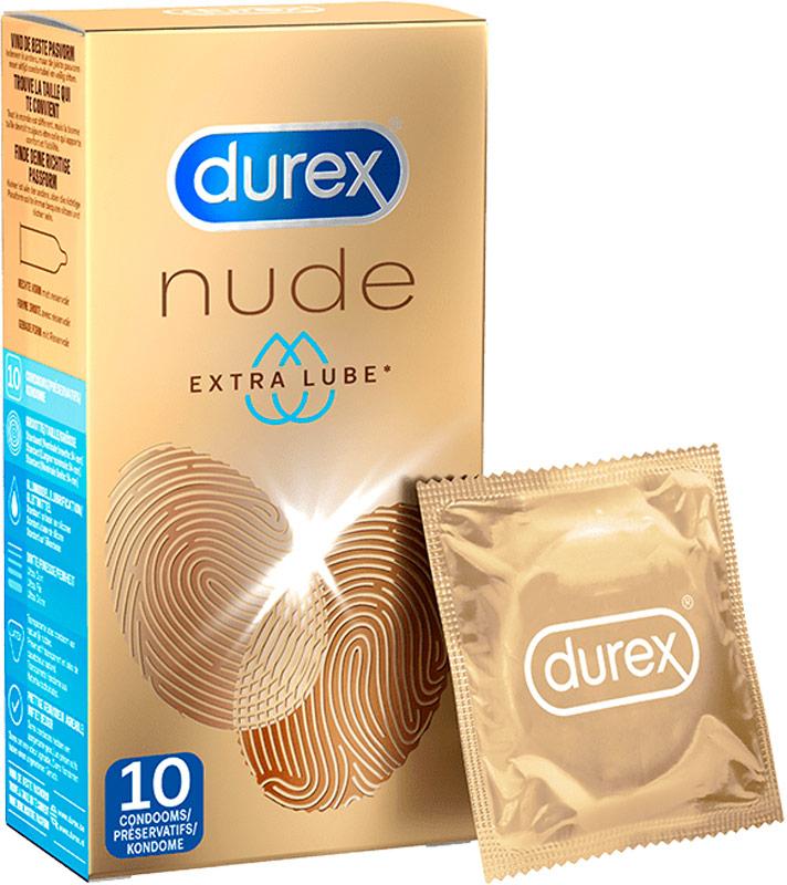 Durex Nude Extra Lube - Extrabefeuchtet (10 Kondome)