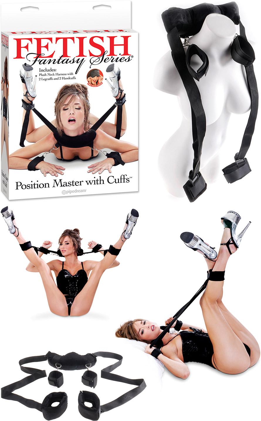 Harnais bondage avec menottes Fetish Fantasy Position Master