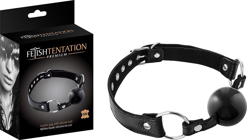 Fetish Tentation Premium Ballknebel aus Leder und Silikon