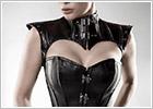 Grey Velvet Corset et épaulettes 15307 - Noir (XXL)