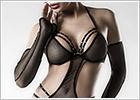Grey Velvet Body Set 14490 - Noir (XS/M)