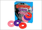Gummy Love Rings - Penisring aus geliertem Gummi - 3 St.