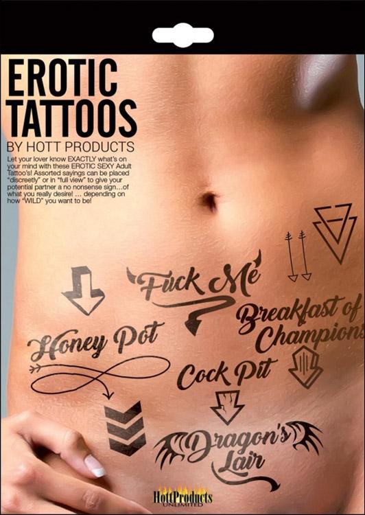 Confezione di tatuaggi erotici HottProducts Erotic Tattoos