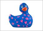 I Rub My Duckie 2.0 Romance Vibrating Duck - Blue & pink (Mini)