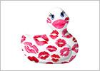 Anatra Vibrante I Rub My Duckie 2.0 Romance - Rosa & bianco (Mini)
