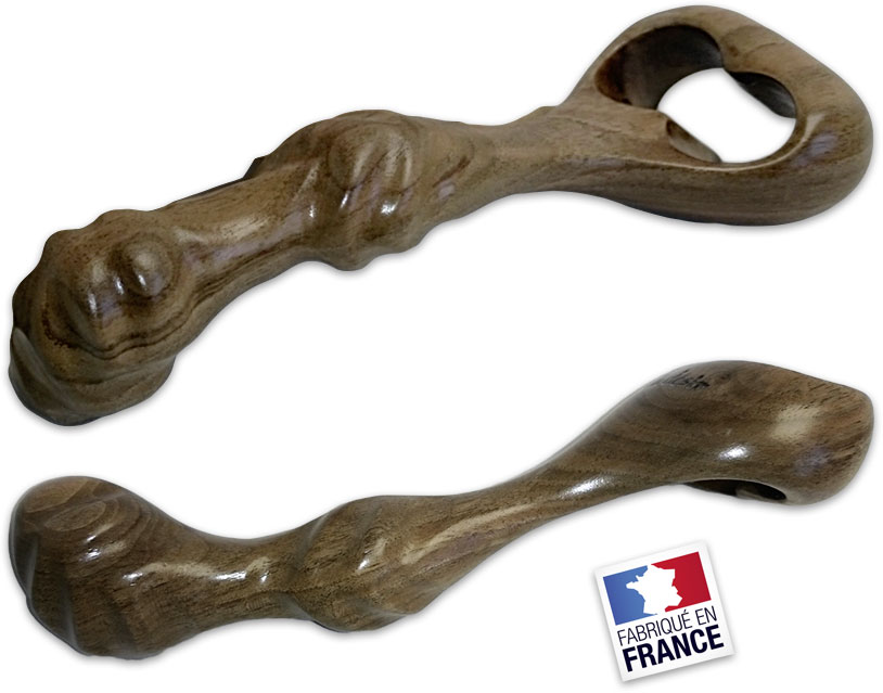 Dildo en bois Idée du Désir Orchidée Twins - Noyer