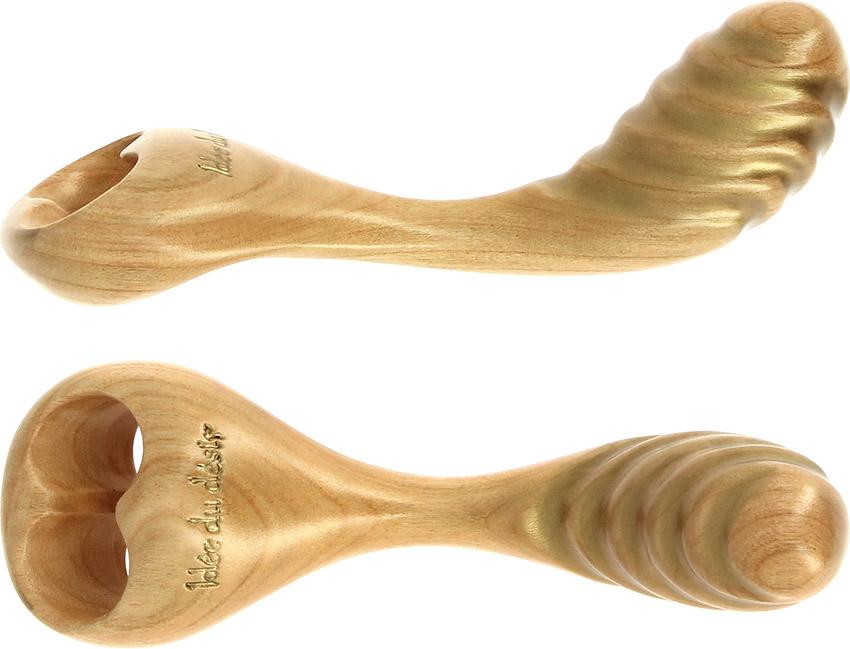 Dildo en bois Idée du Désir Orchidée 1001 Nuits - Merisier