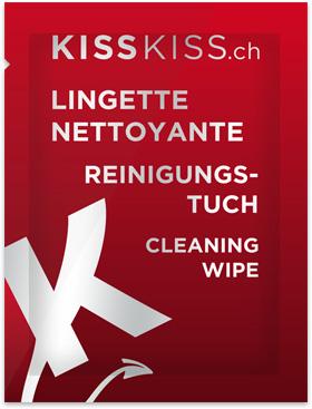 Lingette nettoyante KissKiss.ch - Sachet