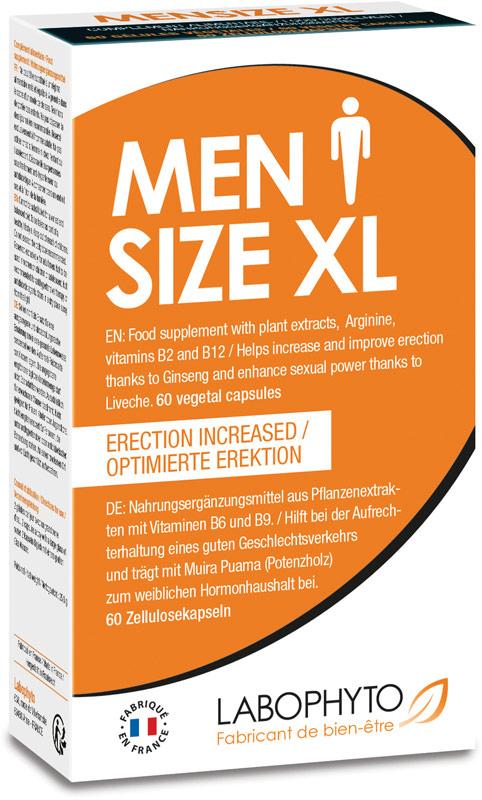 Labophyto Men Size XL - Stimolante sessuale per uomini - 60 capsule