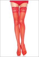 Leg Avenue Calze autoreggenti 1022 - Rosso (S/L)