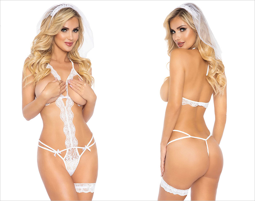 Leg Avenue Marry Me Body - 3 pces (S/L)