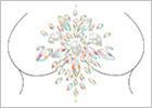 Gioiello autoadesivo per il corpo Leg Avenue Celestial - Ovale