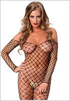 Leg Avenue Bodystocking Fence Net - Nero (S/L)