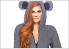 Leg Avenue comoda tutina Cuddle Koala - Grigio (S)