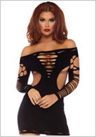 Leg Avenue Mini-Vestitino 87039 - Nero (S/L)