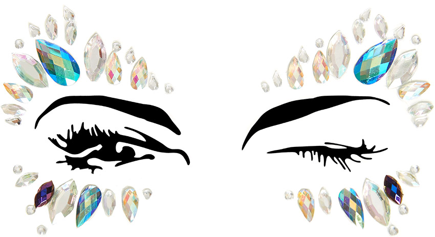Bijoux autocollants pour les yeux Leg Avenue Calypso