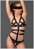 Leg Avenue Body Bondage KINK - Nero (S/L)