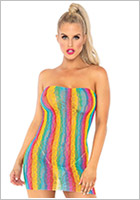 Leg Avenue Rainbow Leopard Dress - Multicoloured (S/L)