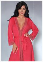 LivCo Corsetti Frances Dressing Gown - Coral (S/M)