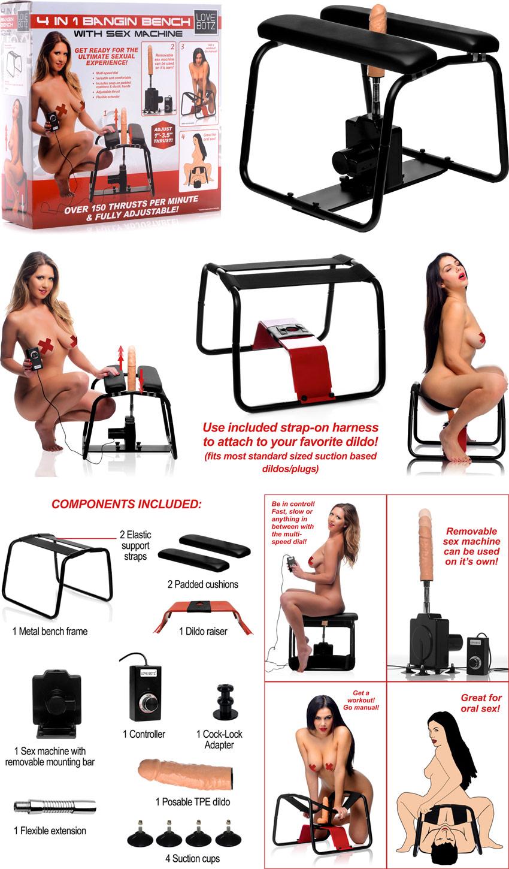 LoveBotz Bangin Bench Sex Machine - Siège avec machine sexuelle