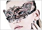 Luna Veneziana Venetian Mask - Ambra