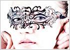 Luna Veneziana Venetian Mask - Clara