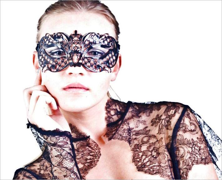 Luna Veneziana Venezianische Maske - Serena