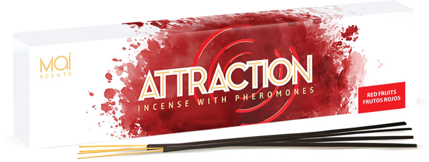Maï Scents Attraction incense sticks with pheromones - Red berries