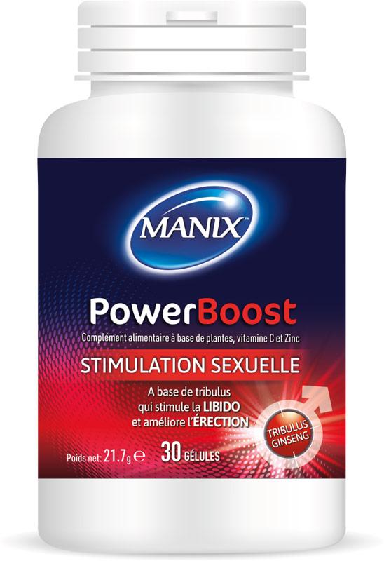 Manix PowerBoost - Stimolante & booster d'erezione - 30 capsule