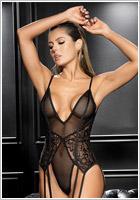 Mapalé 8606 Body & Suspender belt - Black (S/M)
