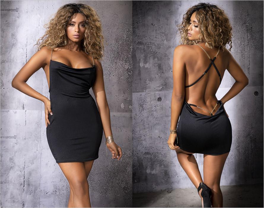 Mapalé sexy Kleid 4551 - Schwarz (S/M)