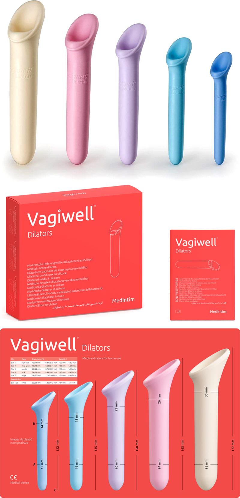MEDintim Vagiwell Premium - Dilatatore in silicone (5 pezzi)