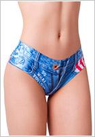 Memème Panty Jeans American - Bleu (M)