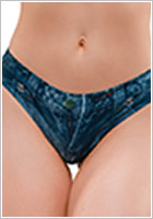 Memème String Jeans Dark - Bleu (S)