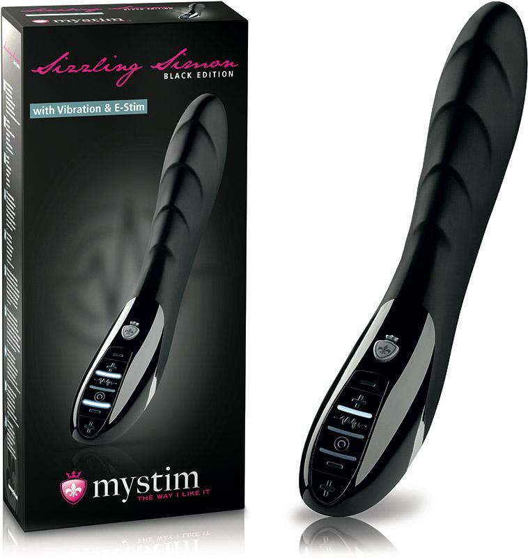 Mystim Sizzling Simon E-Stim Vibrator (Black Edition)