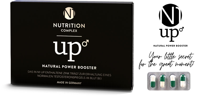 N1 UP Natural Power Booster - Stimolante sessuale naturale - 4 compr.