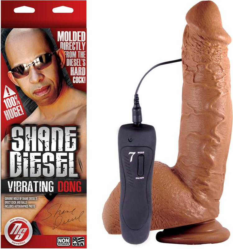 Shane Diesel realistic & vibrating dildo - 19 cm