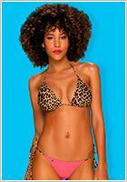Obsessive Bikini reversibile California - 2 pezzi - Rosa & leopardato (S)