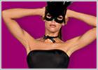 Obsessive Costume da coniglietta Bunny con maschera - Nero (S/M)
