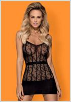 Obsessive Bodystocking-Dress D605 - Black (S/M/L)