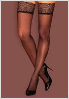 Obsessive Firella Stockings - Nero (S/M)