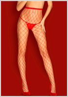 Obsessive Collant S812 - Rouge (XL/XXL)
