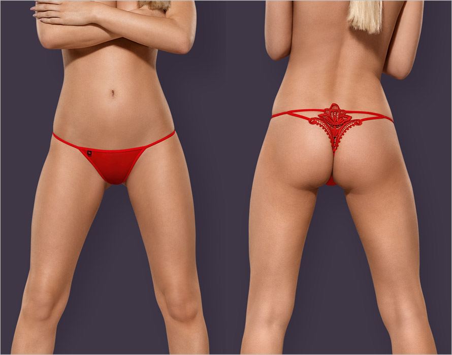 Obsessive Luiza String - Rot (S/M)