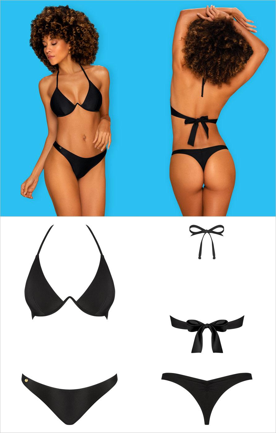 Obsessive Bikini Paralia - 2 pièces - Noir (S)