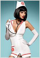 Obsessive Sexy Nurse Emergency Costume (S/M)